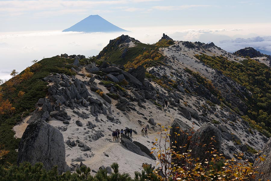 鳳凰三山からの富士