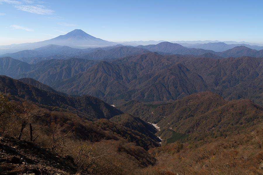 檜洞丸からの富士
