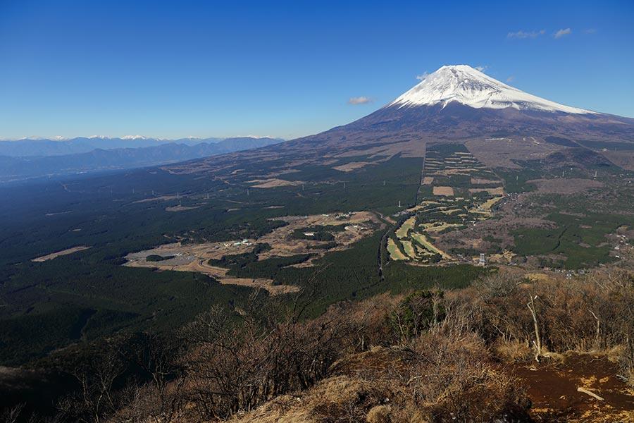 越前岳からの富士