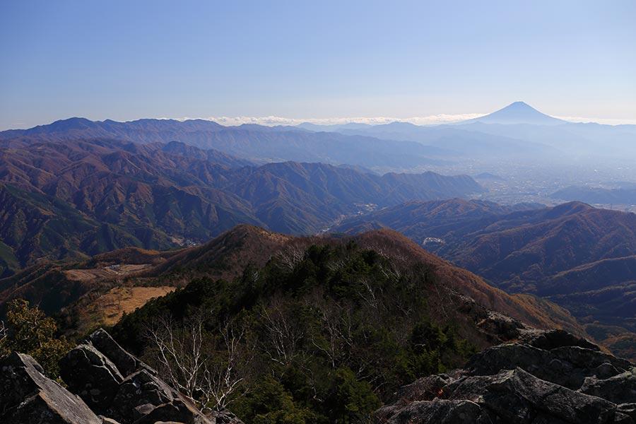 乾徳山からの富士