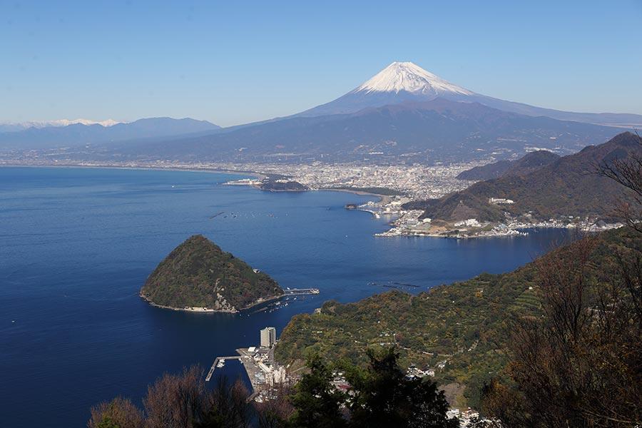 発端丈山からの富士