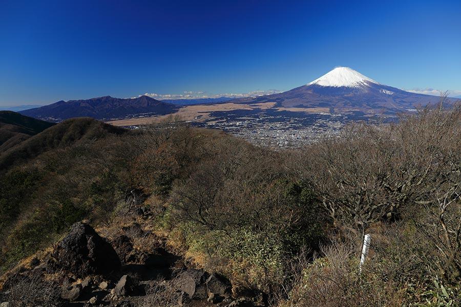金時山からの富士