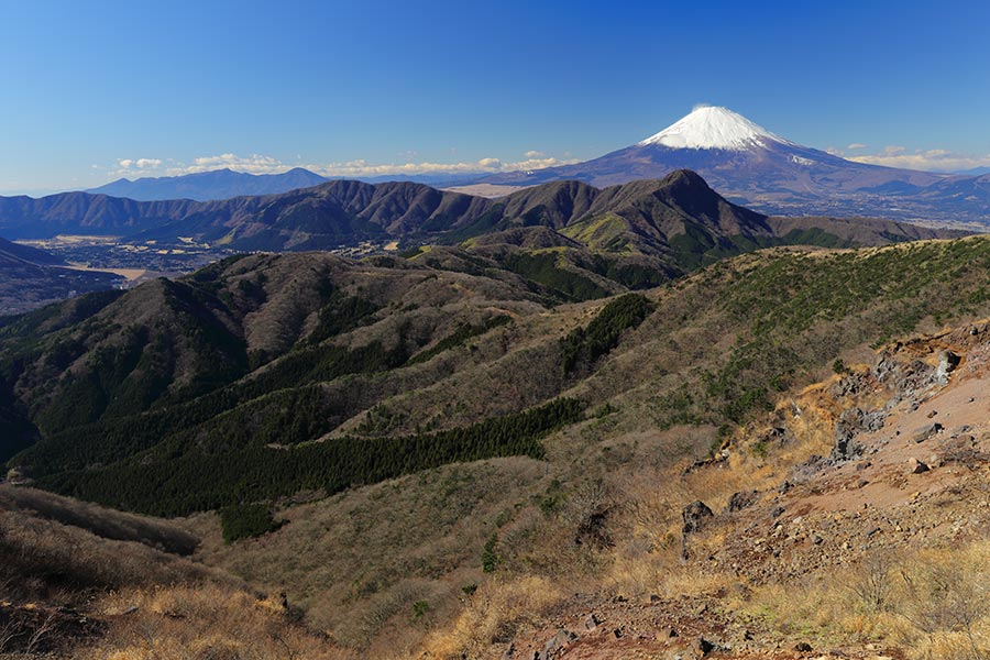 箱根外輪山と富士山