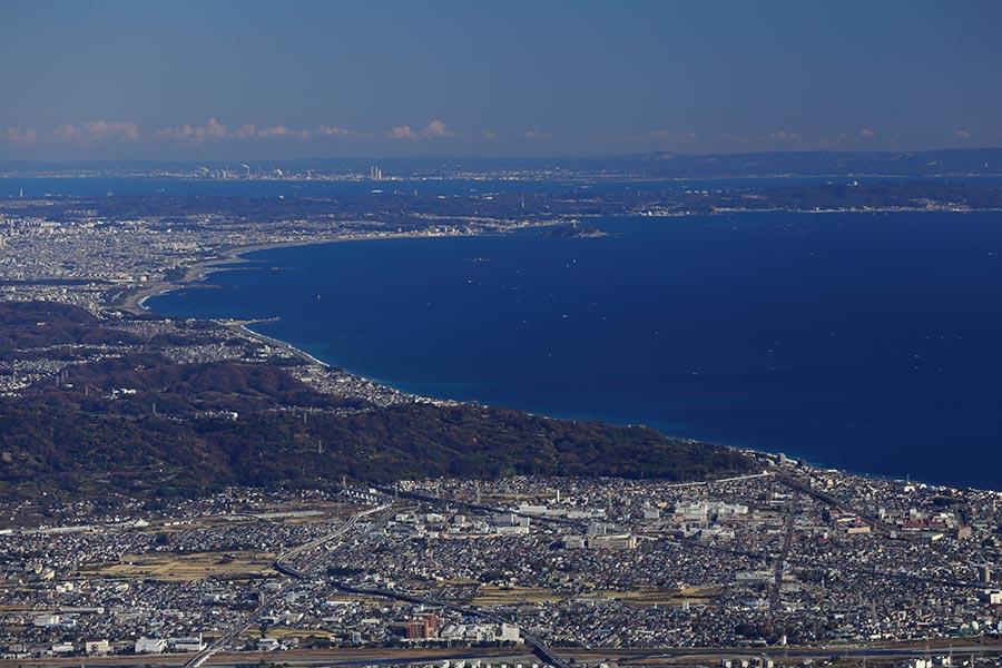箱根から見た相模湾