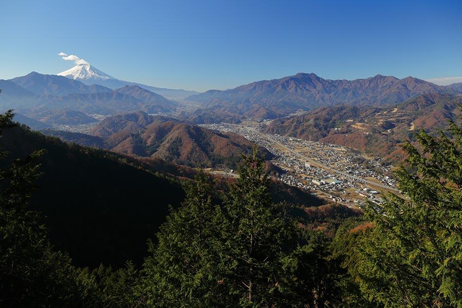 九鬼山からの富士