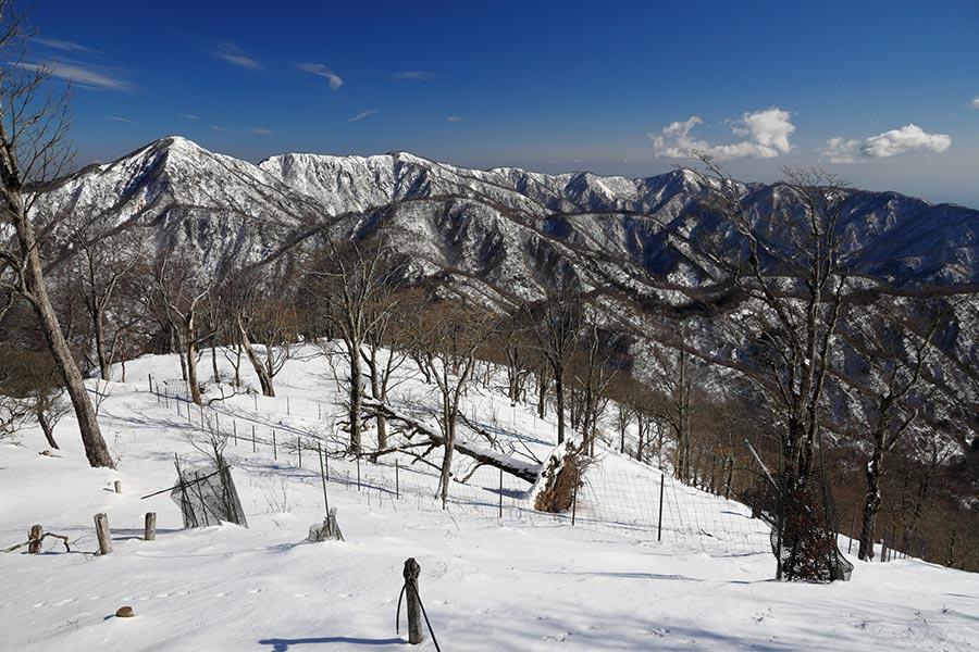 蛭ヶ岳~塔ノ岳の眺め