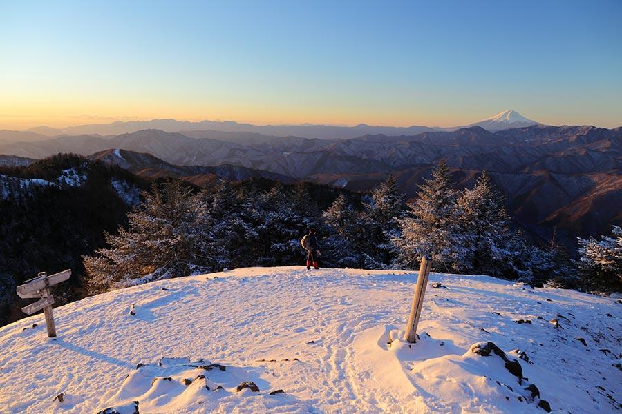 雲取山からの富士