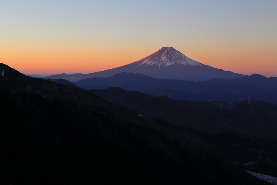 大菩薩からの富士