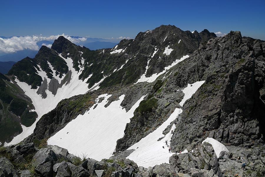 奥穂高岳方面の眺め