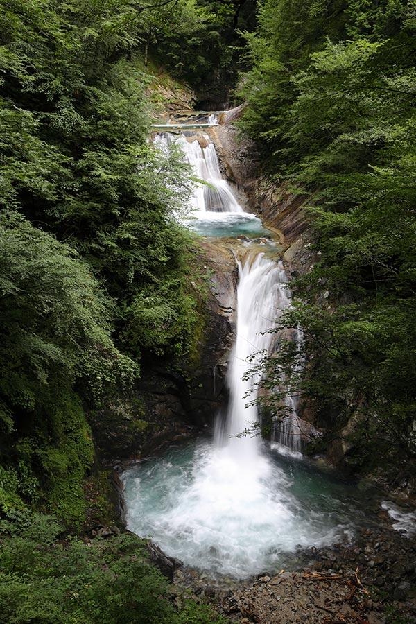 七ツ釜五段の滝