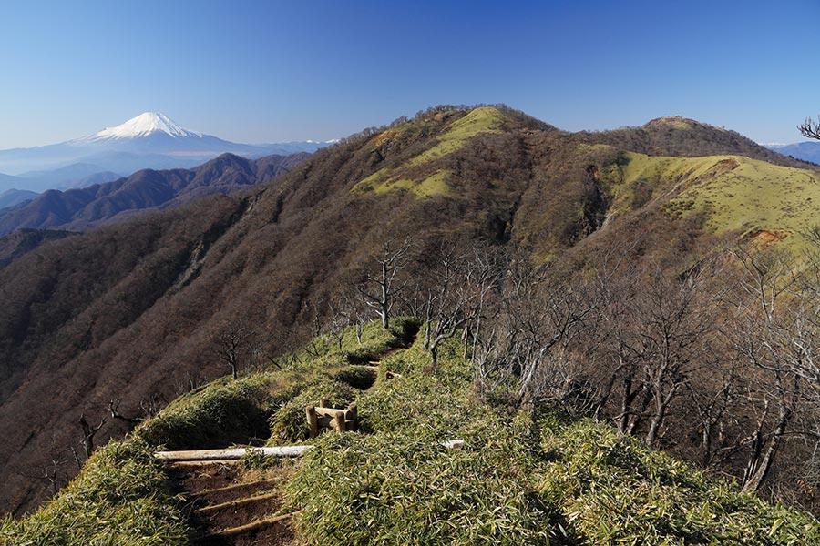 富士山、不動ノ峰、蛭ヶ岳